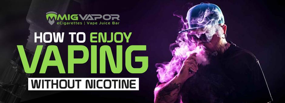 no nicotine vaping