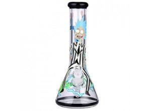 Rick and Morty Glass Water Pipe Glow in the Dark