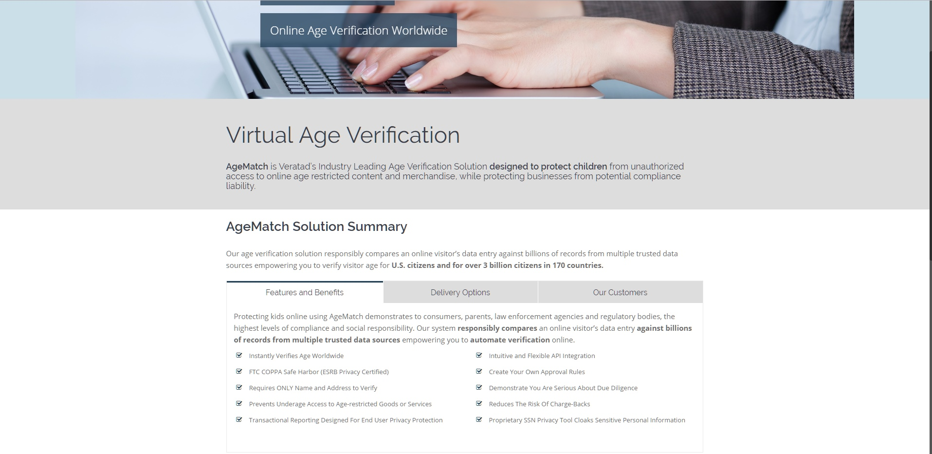Mig Vapor age verification page