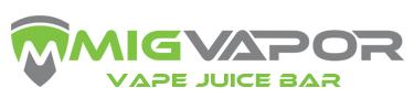 Mig Vapor Vape Juice bar logo